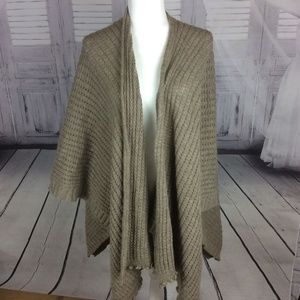Fratelli Talli Italian made Tan Knit Wrap Cape